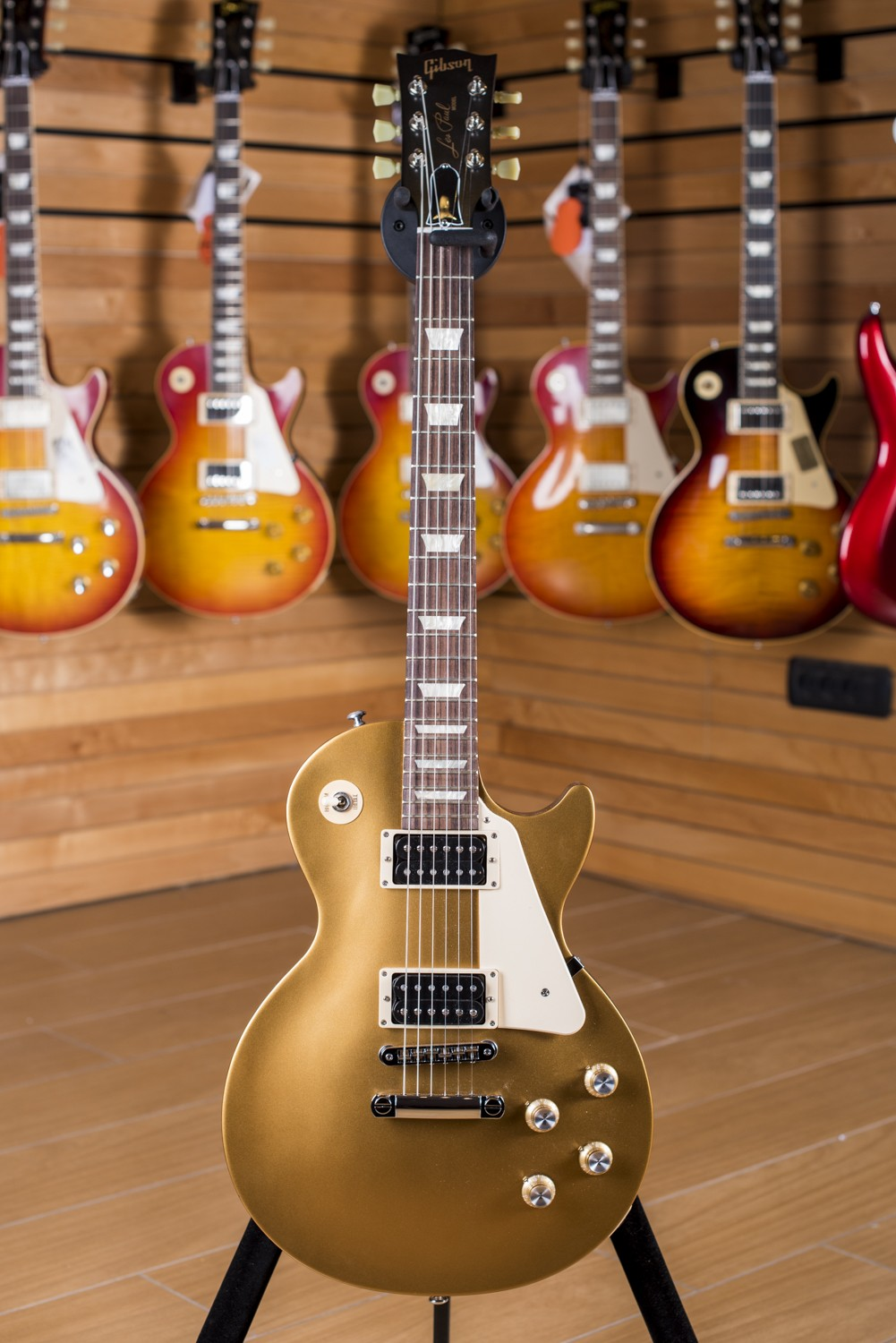 50 Best Back To Front Before After Remodelling Projects: Gibson Les Paul '50 Tribute 2016 T Satin Gold Top Dark Back