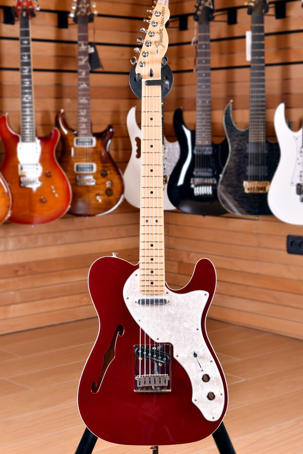 Fender Mexico Deluxe Thinline Telecaster Maple Fingerboard Candy Apple Red