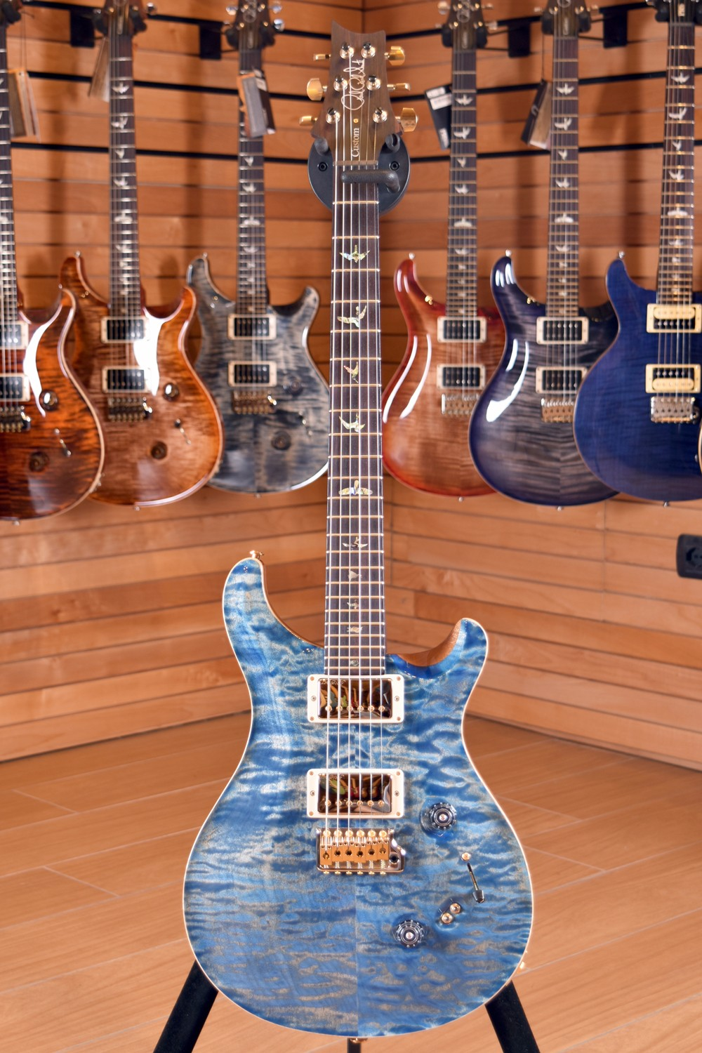 PRS Paul Reed Smith Custom 24 Wood Library WL0808 Pattern Thin 58/15 Faded Blue Jean 2017