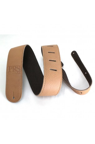 ACC-3120 Guitar Strap, Tan Leather, Embossed Logo