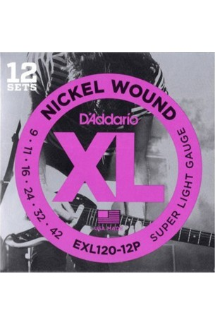 D'Addario EXL120-12P 009/042 12 Pack Limited Edition