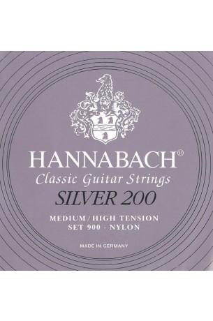 Hannabach Set 900 Medium/High Tension Silver 200