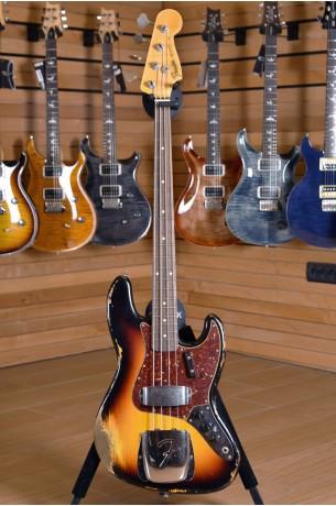 Fender Custom Shop '64 Jazz Bass Heavy Relic 3 Color Sunburst