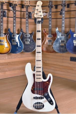Lakland USA 55-60 Translucent White , Birdsesye Maple Fingerboard with Ebony Block Inlays