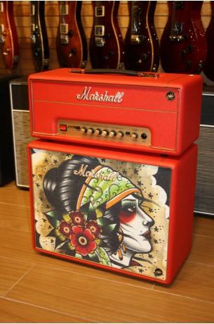 Marshall Custom Shop Tattoo JVM1-H & C110 Red Vicky Morgan